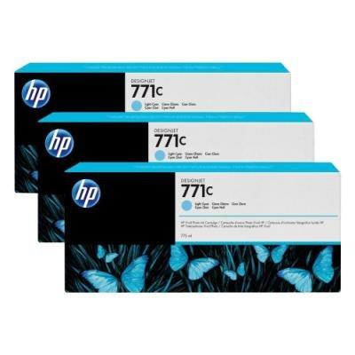 Inkoustová náplň HP 771C (B6Y36A) trojpack modrá