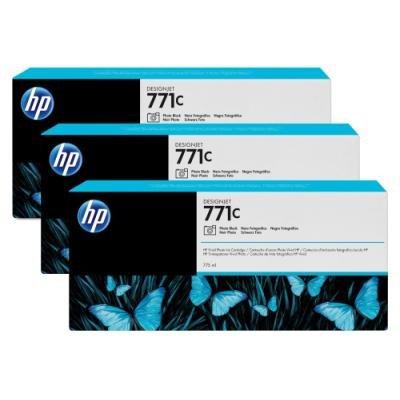 Inkoustová náplň HP 771C (B6Y37A) trojpack černá