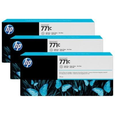 Inkoustová náplň HP 771C (B6Y38A) trojpack šedá