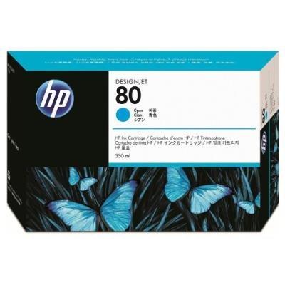 Inkoustová náplň HP 80 (C4846A) modrá