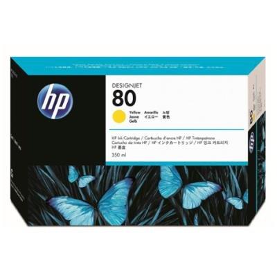 Inkoustová náplň HP 80 (C4848A) žlutá