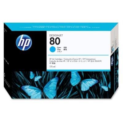 Inkoustová náplň HP 80 (C4872A) modrá