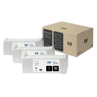 Inkoustová náplň HP 83 (C5072A) trojpack černá UV