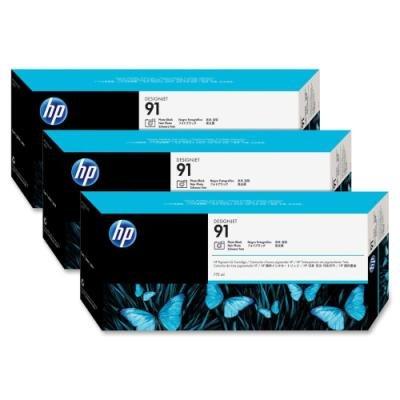 Inkoustová náplň HP 91 (C9481A) trojpack černá
