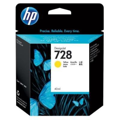 Inkoustová náplň HP 728 (F9J61A) žlutá