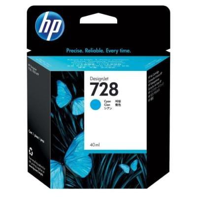 Inkoustová náplň HP 728 (F9J63A) modrá