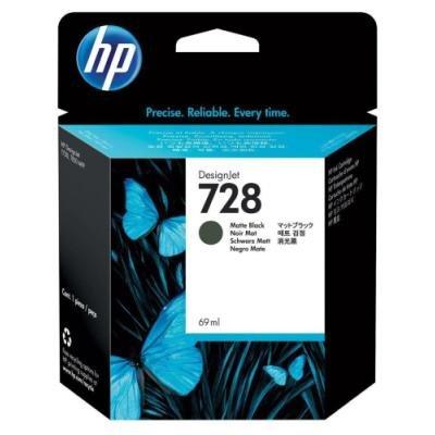 Inkoustová náplň HP 728 (F9J64A) matná černá
