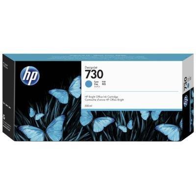 Inkoustová náplň HP 730 (P2V68A) modrá