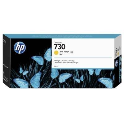 Inkoustová náplň HP 730 (P2V70A) žlutá