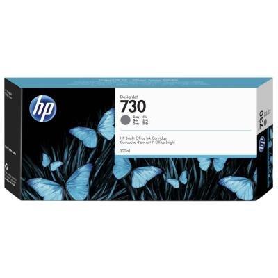 Inkoustová náplň HP 730 (P2V72A) šedá