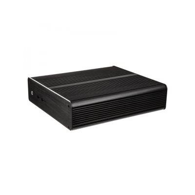 "AKASA skříň Euler M / A-ITX19-M1B08E / Mini-ITX / 2x USB 3.0 / 2.5"" pozice pro HDD / 80W zdroj / bez loga / černá"