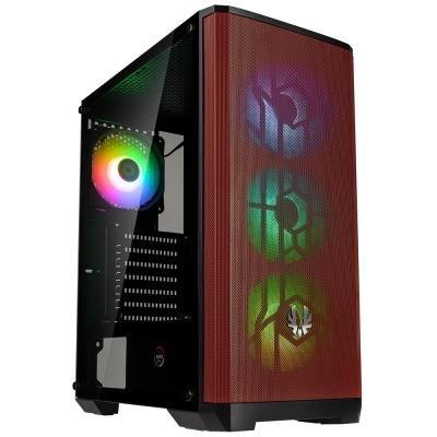 BitFenix Nova Mesh SE TG ARGB černo-červená