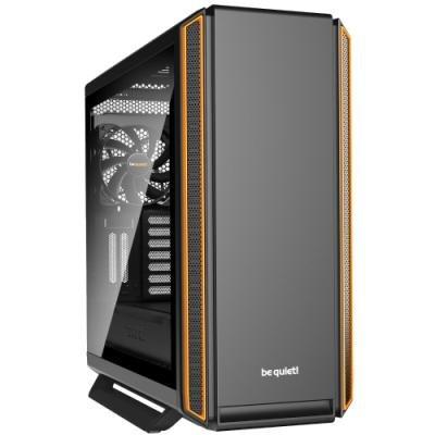 Be quiet! skříň SILENT BASE 801 Window / MidT / bez zdroje / 1x USB2.0 + 2x USB3.0 / průhledná bočnice / oranžová