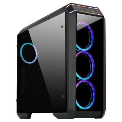 CHIEFTEC MidT Stallion II GP-02B-OP / ATX / 2x USB3.0 / 2x USB2.0 / bez zdroje / průhledná bočnice / černá