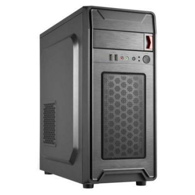 CRONO skříň Middle Tower MT-X7/ bez zdroje/ 2x USB 2.0/ černý