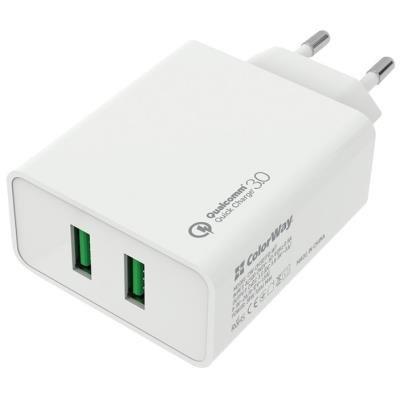 ColorWay napájecí adaptér 2x USB 36W