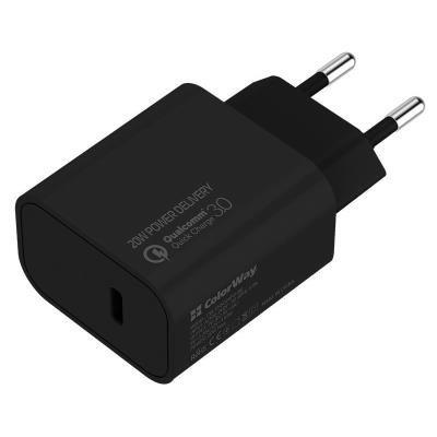 ColorWay napájecí adaptér USB-C 20W černý