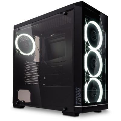 MICRONICS skříň MASTER T3000/ bez zdroje/ ATX/ 2x USB3.0/ 2x USB2.0/ přední sklo/ černá