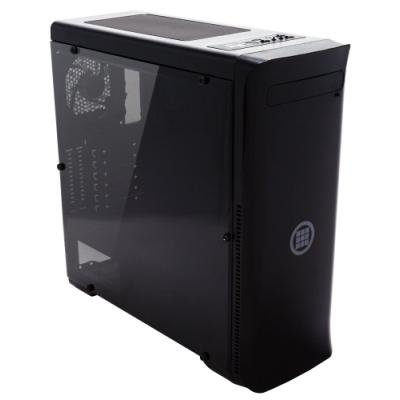 MICRONICS skříň FRONTIER H350 BLACK/ bez zdroje/ ATX/ 1x USB3.0/ 2x USB2.0/ černá