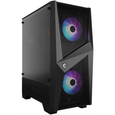 MSI skříň MAG FORGE 100R/ bez zdroje/ levé temperované sklo/ 2x 120 mm A-RGB fan/ 2x USB3.0/ 1x 120 mm fan/ černá
