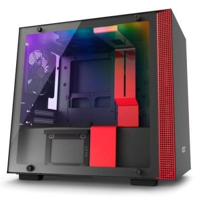 Skříň NZXT H200i černo-červená
