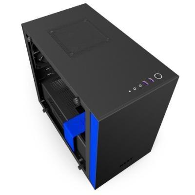 Skříň NZXT H200i černo-modrá