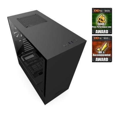 NZXT skříň H500 / ATX / průhledná bočnice / 2x USB 3.0 / černá