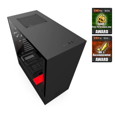 Skříň NZXT H500 černo-červená