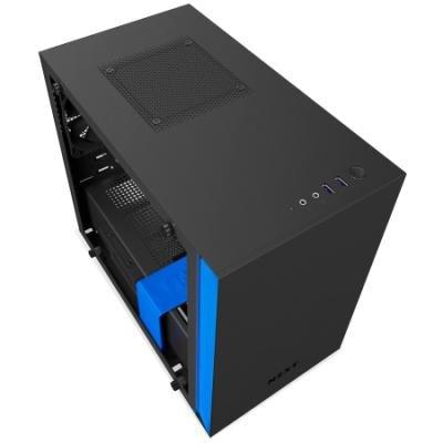 Skříň NZXT H200 černo-modrá