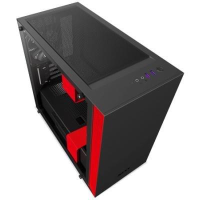 Skříň NZXT H400 černo-červená