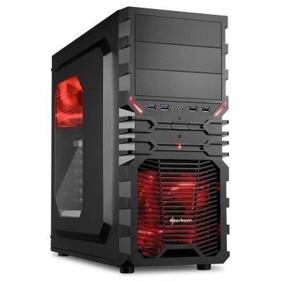 Skříň Sharkoon VG4-W černo-červená