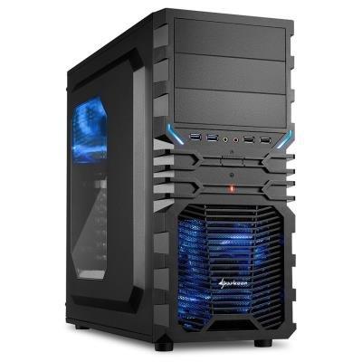 Skříň Sharkoon VG4-W černo-modrá