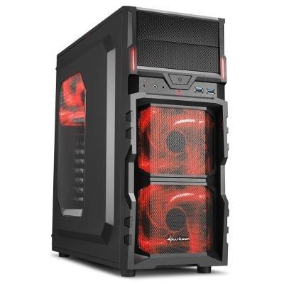 Skříň Sharkoon VG5-W černo-červená
