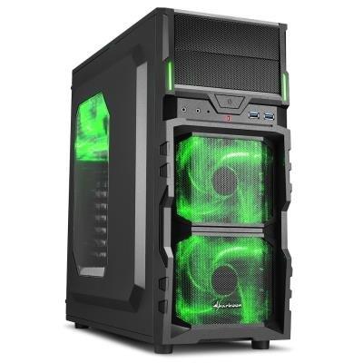 Skříň Sharkoon VG5-W černo-zelená