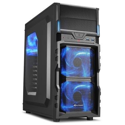 Skříň Sharkoon VG5-W černo-modrá