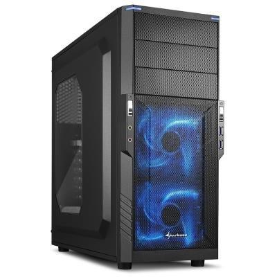 Skříň Sharkoon T3-W černo - modrá