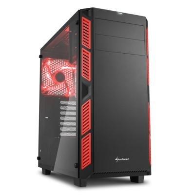 Skříň Sharkoon AI7000 Glass červená