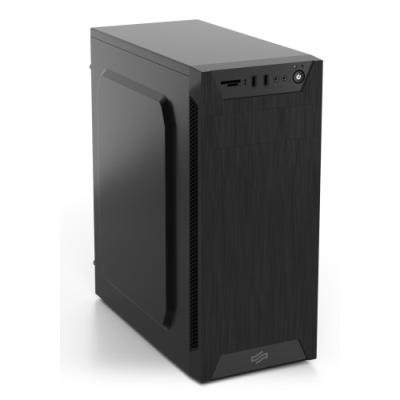 POŠKOZENÝ OBAL - SilentiumPC skříň MidT Armis AR1 Pure Black / čtečka SD / 2x USB 3.0 / 1x 80mm fan / černá