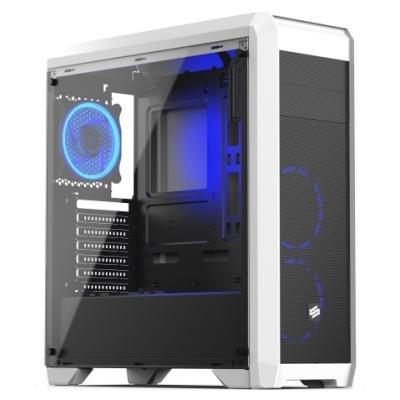 SilentiumPC skříň Regnum RG4TF RGB Frosty White / celoskleněná bočnice/ čtečka SD / USB 3.0 / regulace otáček / bílá
