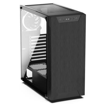 POŠKOZENÝ OBAL - SilentiumPC skříň MidT Armis AR5 TG RGB / 2x USB 3.0/ 3x 120mm fan/ bok z tvrzeného skla/ RGB podsvícení/ čer...