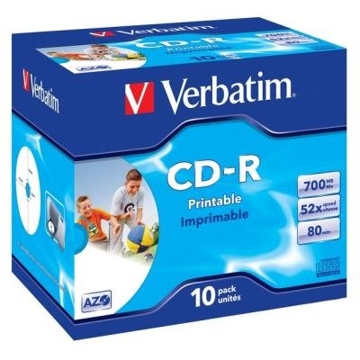 CD médium Verbatim CD-R80 700MB 10ks