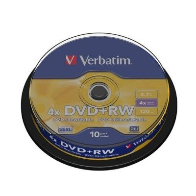 DVD médium Verbatim DVD+RW 4,7GB 10ks