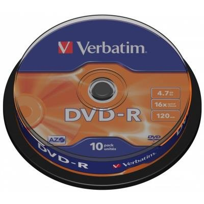 DVD médium Verbatim DVD-R 4,7GB 10ks
