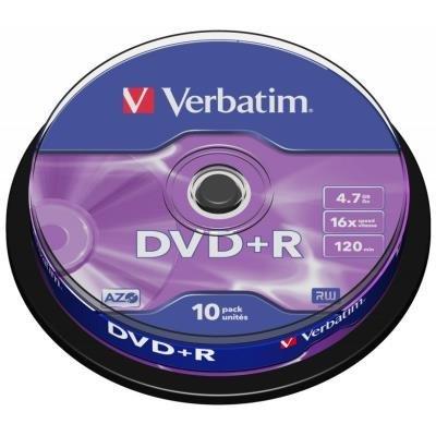 DVD médium Verbatim DVD+R 4,7GB 10 ks