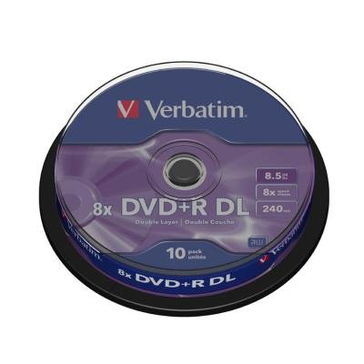 DVD médium Verbatim DVD+R 8,5GB 10ks