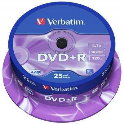 DVD médium Verbatim DVD+R 4,7GB 25 ks