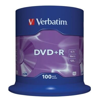 DVD médium Verbatim DVD+R 4,7GB 100 ks