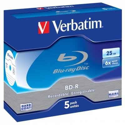 Blu-Ray médium Verbatim BD-R SL 25GB 5ks