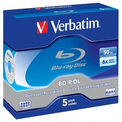 Blu-Ray médium Verbatim BD-R DL 50GB 5 ks