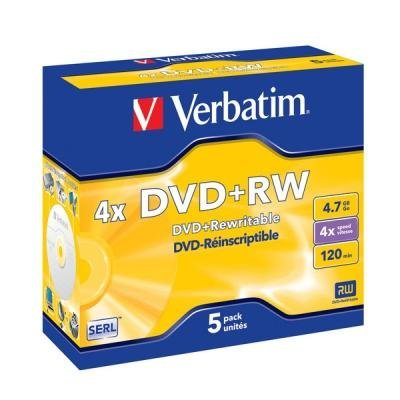 DVD médium Verbatim DVD+RW 4,7GB 5ks